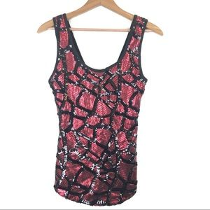 BKE Boutique Red Sequin Tank Top S